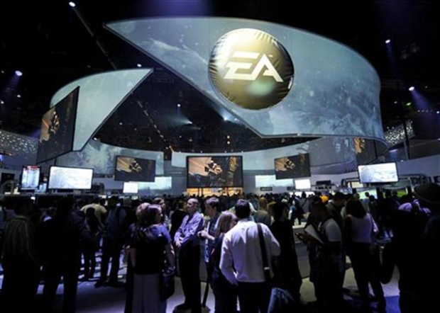 Attendees at Electronic Entertainment Expo visit the Electronic Arts booth on the first day of E3 in Los Angeles
