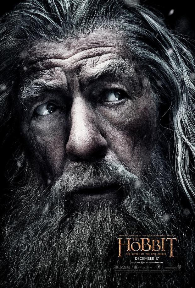 el hobbit 3 gandalf poster