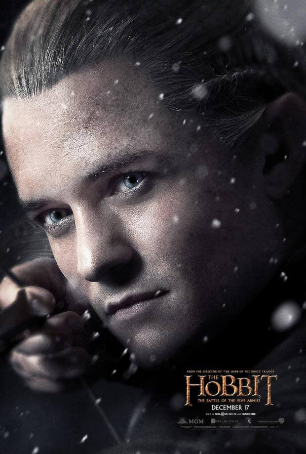el hobbit 3 legolas poster