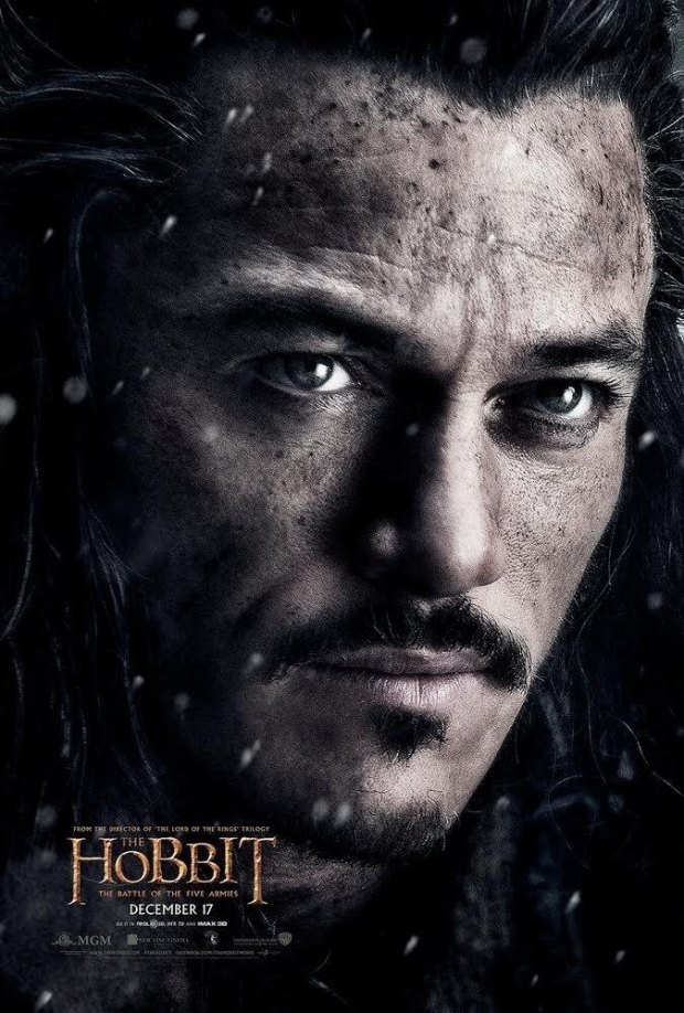 el hobbit 3 sereno bardo poster