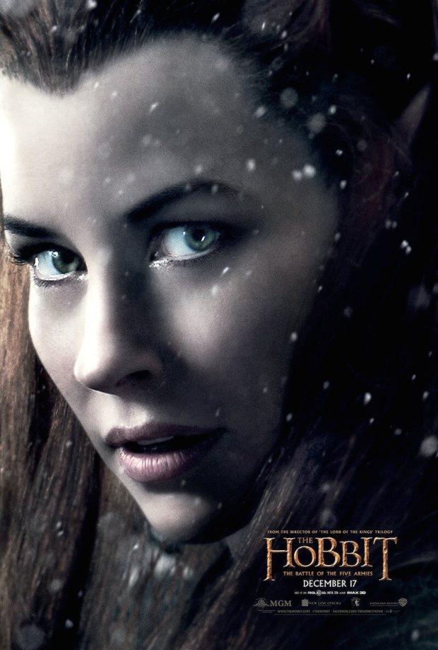 el hobbit 3 tauriel poster