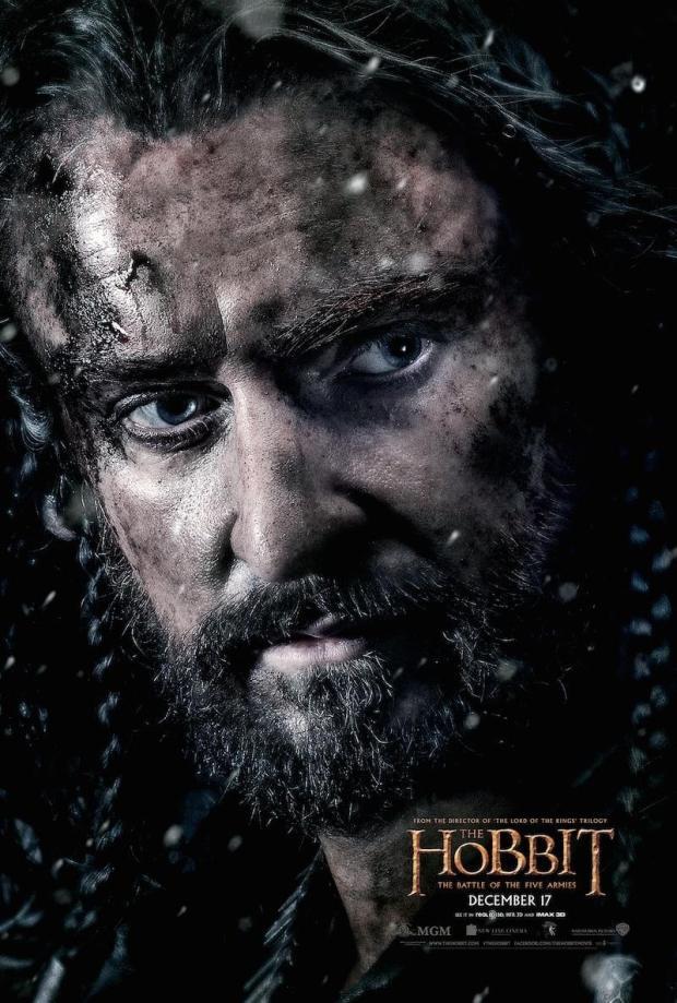 el hobbit 3 thorin poster