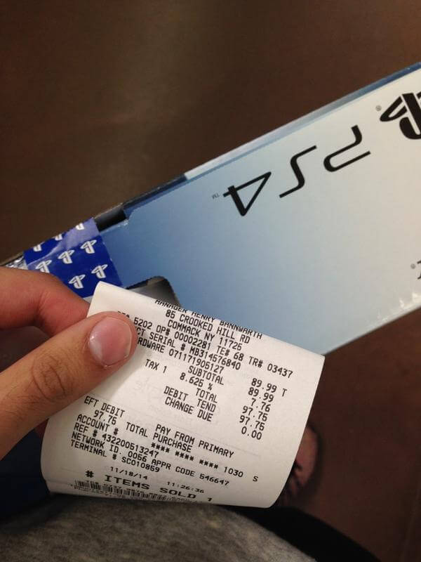 ticket ps4