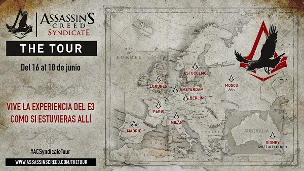 assassins creed sindivate the tour ciudades