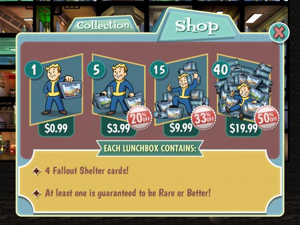 Fallout Shelter Money