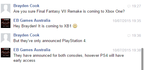 Final Fantasy VII Remake Twitter