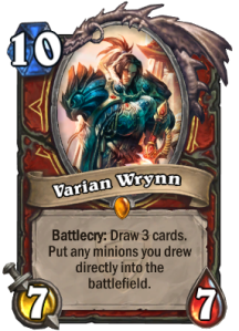 Heartstone Varian Wrynn
