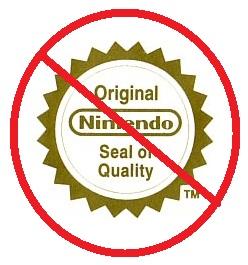 sello de calidad de nintendo NO