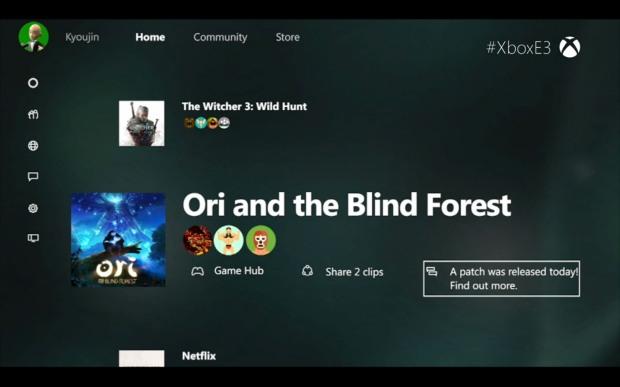 Xbox One interfaz