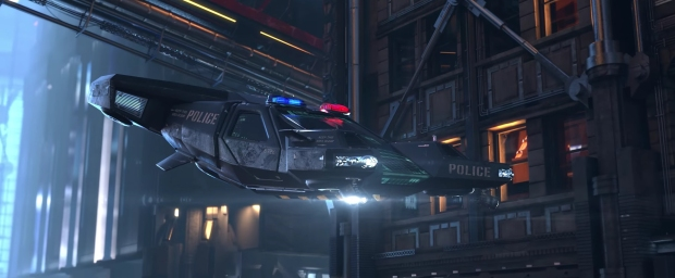 Cyberpunk 2077 coche de polícia