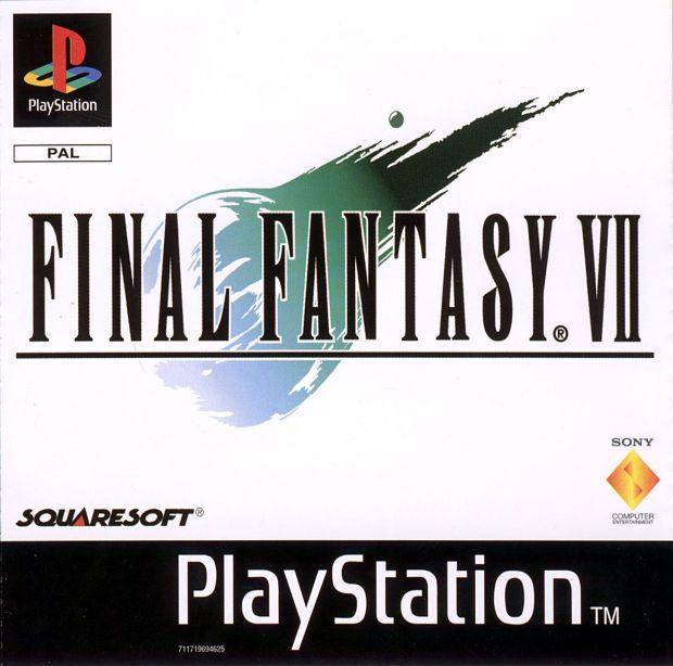 Caratula original de Final Fantasy VII en PlayStation