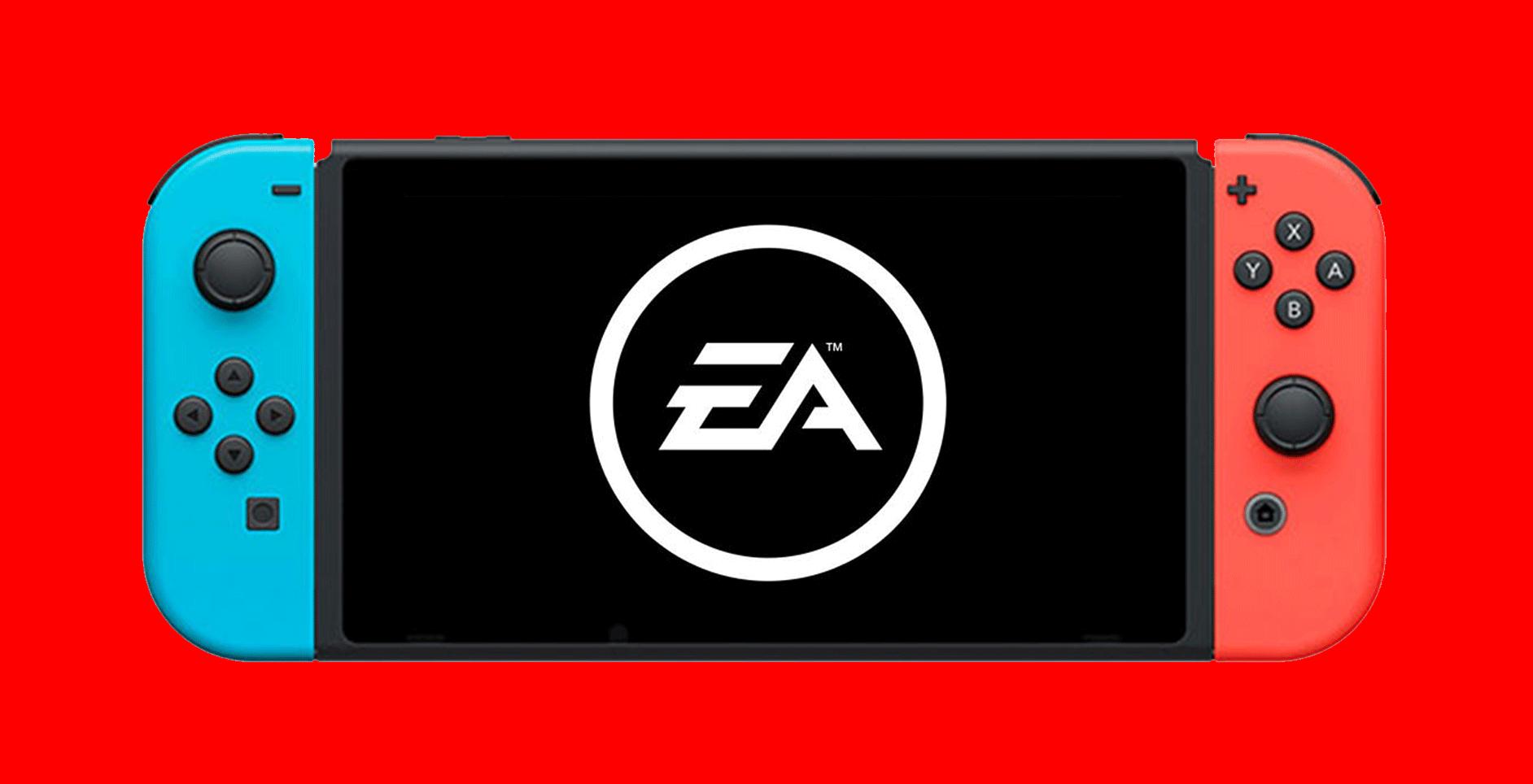 Nintendo Switch whit EA's logo