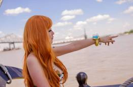 Cosplay de Nami en One Piece por firecloak
